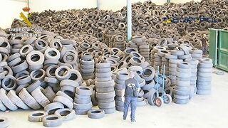 Desmantelado un grupo criminal que operaba ilegalmente con neumáticos usados