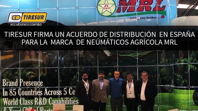 Tiresur distribuirá neumáticos agrícolas MRL