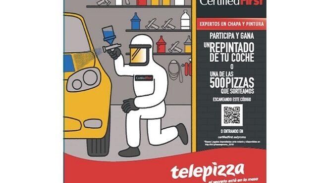 Campaña conjunta de Certified First y Telepizza
