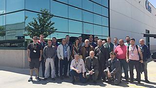 Profesionales de la red de talleres Andel visitan la planta de Olipes en Madrid