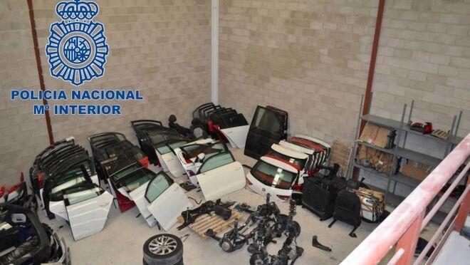 Desarticulada una organización que sustraía vehículos y los vendía por piezas