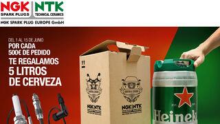 Campaña NGK con regalo de cerveza
