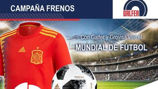 Balones y camisetas del Mundial con frenos Galfer