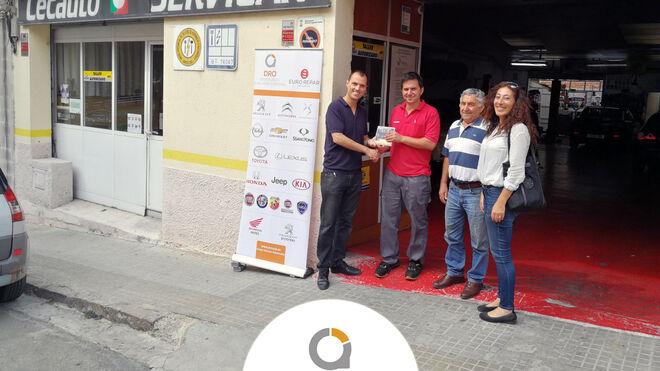 Taller Servicar y Taller Marino, ganadores del sorteo de DRO celebrado en Autopro Saló