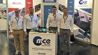 MCE Mezclas Caucho presenta sus productos en la feria DKT en Núremberg