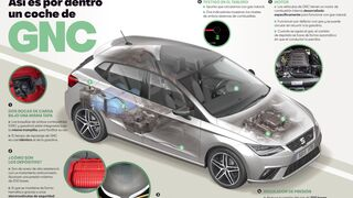 Cómo es por dentro un coche de gas natural comprimido