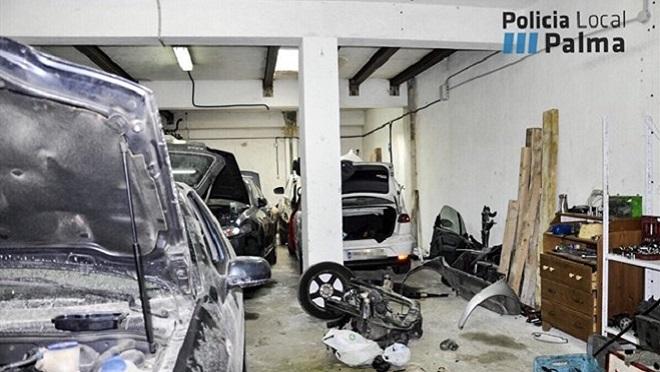 La policía denuncia tres talleres ilegales en Palma de Mallorca