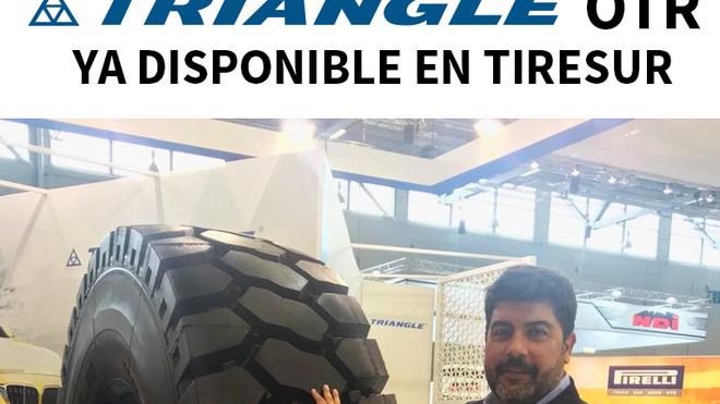 Tiresur amplía su gama de neumáticos con Triangle OTR