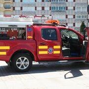 Arde un taller de neumáticos en Boiro (A Coruña)