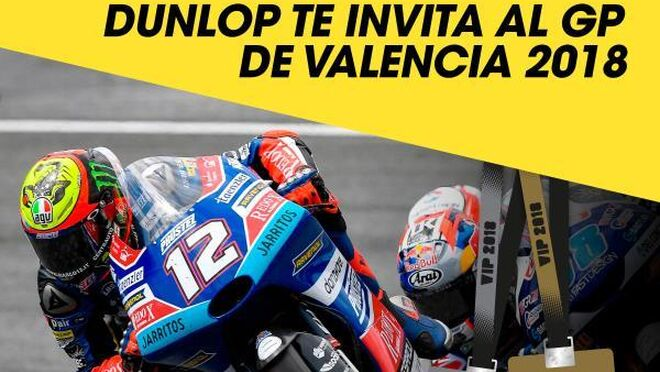 Dunlop regala dos pases VIP para el Gran Premio de Valencia
