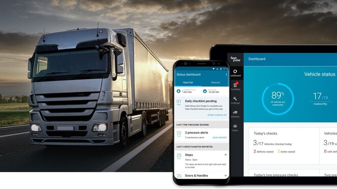 FleetPulse, la solución de Bridgestone para el mantenimiento digital de los neumáticos de flotas