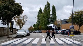 Pasos de peatones en 3D, la estrategia de Monroe para promover el cambio de amortiguadores