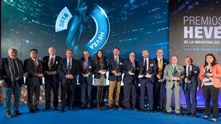 Estos son los ganadores de la I edición de los Premios Hevea de la Industria del Neumático
