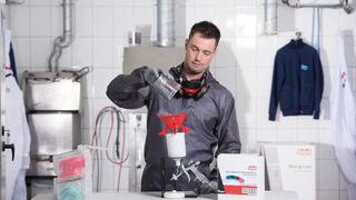 El cuarto de mezclas profesional de Hamach, clave para un taller seguro y limpio