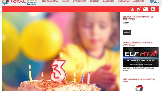 El blog de Total Lubricantes cumple tres años