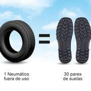 """¿Sabías que... se utilizan neumáticos usados para fabricar suelas de zapatos?"""