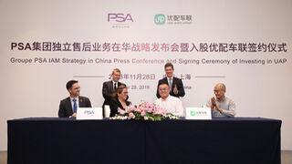 Groupe PSA entra en el capital del distribuidor chino de piezas UAP