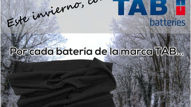 TAB Batteries regala una braga de cuello por la adquisición de una batería