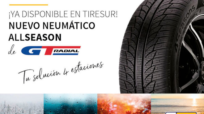 El nuevo neumático 4Seasons de GT Radial ya está disponible en exclusiva en Tiresur