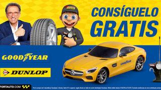 Confortauto regala un coche teledirigido por la compra de neumáticos Goodyear y Dunlop