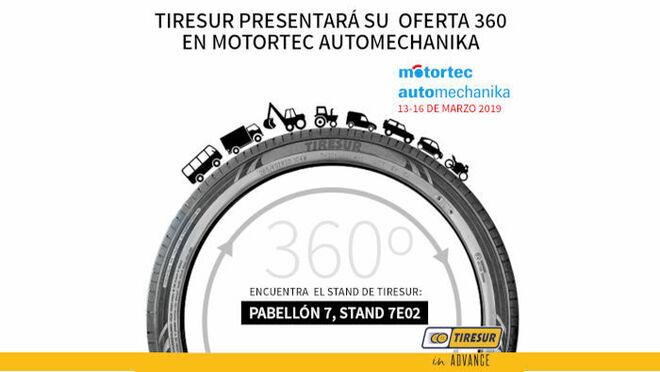 Tiresur presentará su experiencia 360º en Motortec 2019