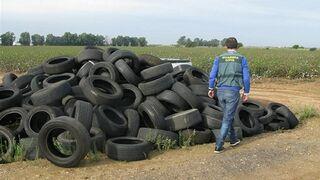 Investigan un taller sevillano por el abandono de más de 100 neumáticos
