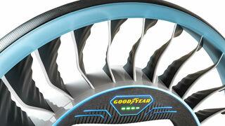 Goodyear presenta el Aero, un prototipo de neumático-hélice para coches voladores