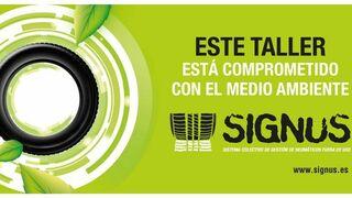Signus entregará placas distintivas a los talleres comprometidos con el medio ambiente