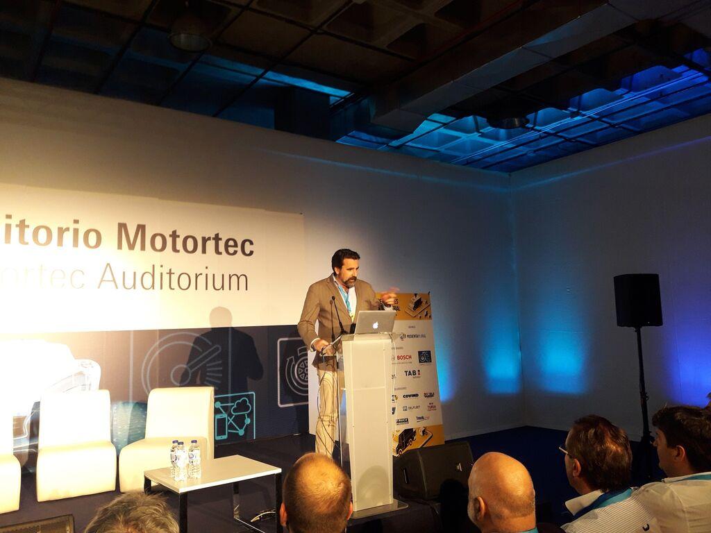 José Manuel López Montoya, director comercial de MSI, en el Congreso de Vehículo Industrial