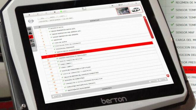 Berton muestra a los asistentes a Motortec su herramienta de diagnosis Berton OBD