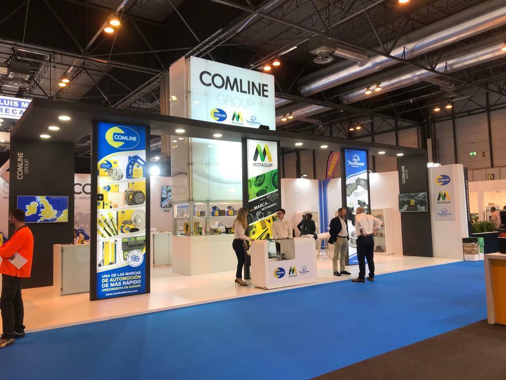 Stand de Comline Group, con sus tres marcas: Comline, Motaquip y Trucktechnic