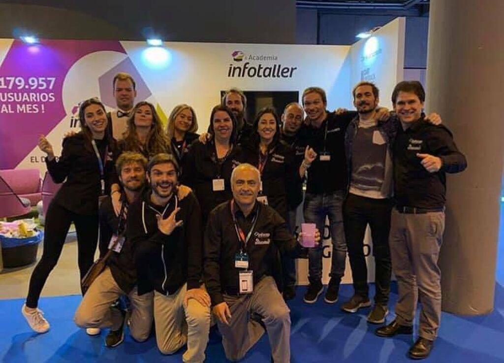 Todo el equipo de Infocap Infotaller en Motortec