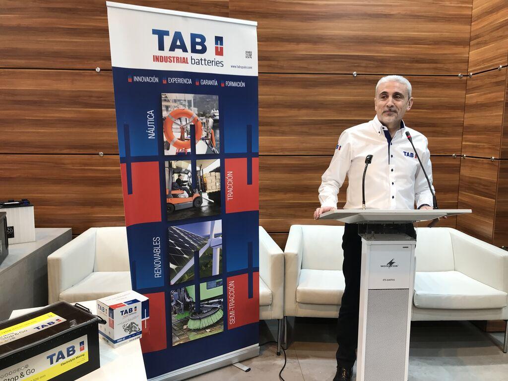 Joan Alcaraz, en la presentación de las novedades de TAB Batteries