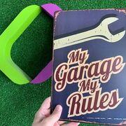#MyGarageMyRules, te regalamos esta chapa para tu taller