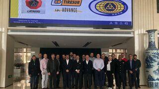 Tiresur y sus clientes visitan las fábricas de Triangle en China