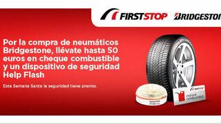 Bridgestone y First Stop ofrecen 50 euros en cheques combustible en Semana Santa