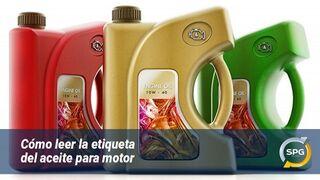 ¿Qué información da la etiqueta del aceite del motor?