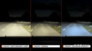 Tres colores e intensidades de luz para diferentes necesidades de conducción