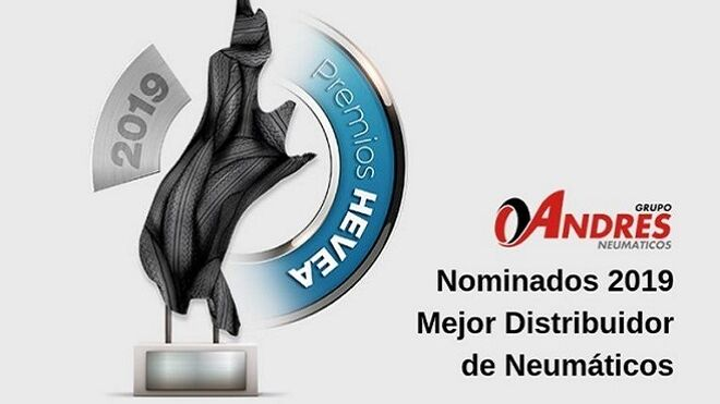 Grupo Andrés, nominado a los Premios Hevea como 'Mejor distribuidor de neumáticos'