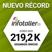 Infotaller duplica su audiencia en junio y llega a los 219.170 usuarios