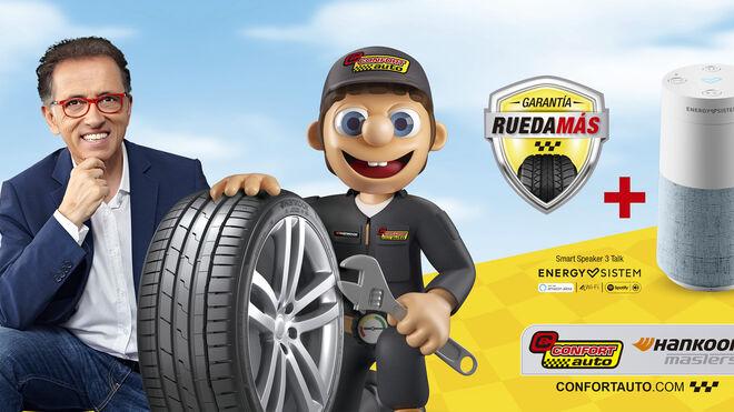 Seguro de ruedas y altavoz inteligente por la compra de neumáticos Hankook
