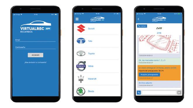 En marcha Virtualrec, una app para comprar recambio marquista