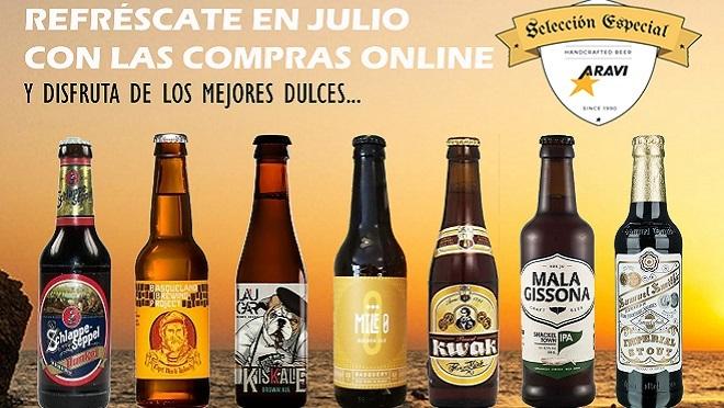 Aravi premia las compras online con packs de cerveza
