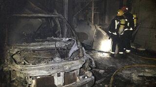 Un incendio calcina un taller en Burriana (Castellón)