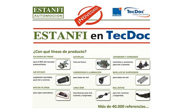 Estanfi anuncia su incorporación al catálogo TecDoc