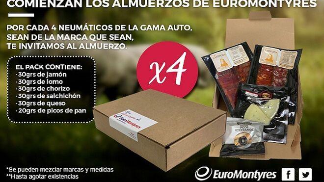 Euromontyres regala almuerzos a sus seguidores