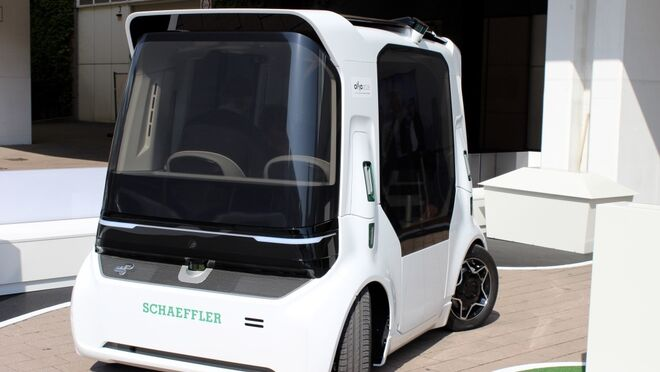 Schaeffler Mover, el prototipo eléctrico que gira sus ruedas 90 grados