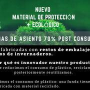 Las nuevas fundas de asientos ecológicas confirman la apuesta por el respeto medioambiental de Autobrillante