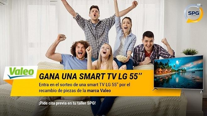 Valeo y SPG Talleres regalan una smart TV de 55 pulgadas