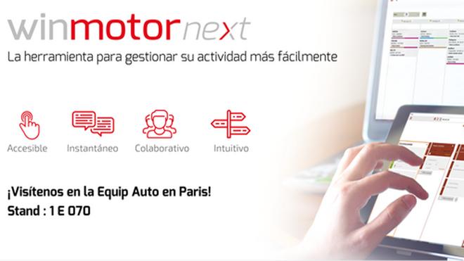 Winmotor Next, protagonista en el stand de Solware Auto en Equip Auto 2019